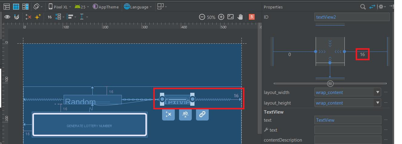 Adding right margin to second TextView in Android Studio