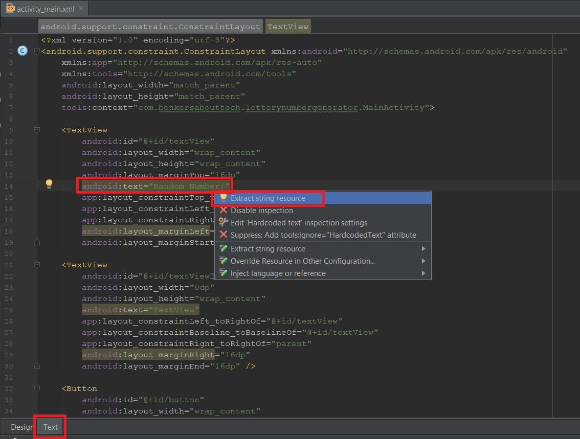 Extract string resource in Android Studio
