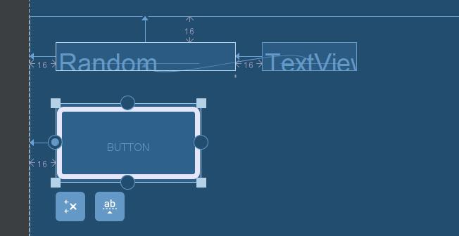 Adding left constraint from Button to parent layout