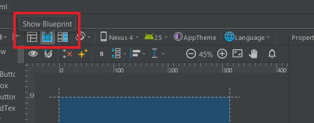 Show blueprint in Android Studio
