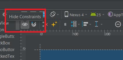Show constraints in Android Studio