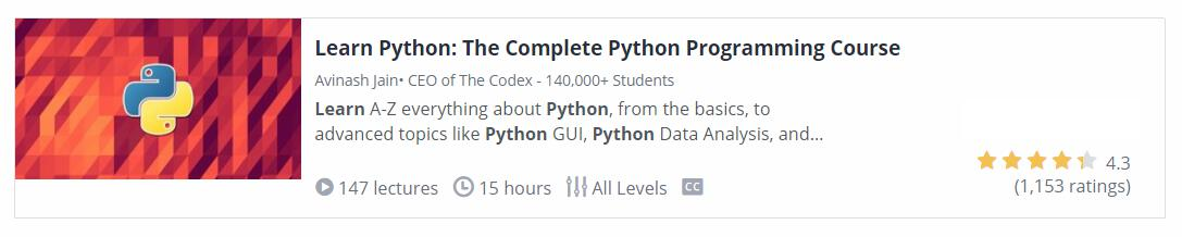 Complete Python Programming Course