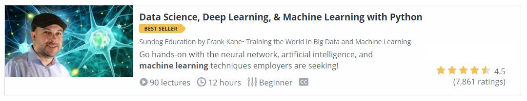 Data Science, Deep Learning and Machine Learning with Python