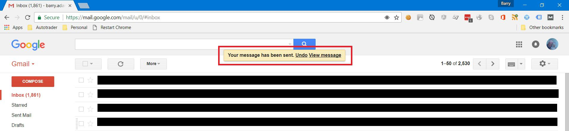Undo send message in Gmail