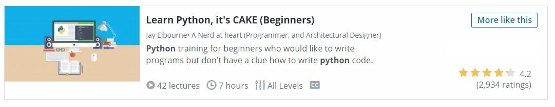 Learn Python It's Cake