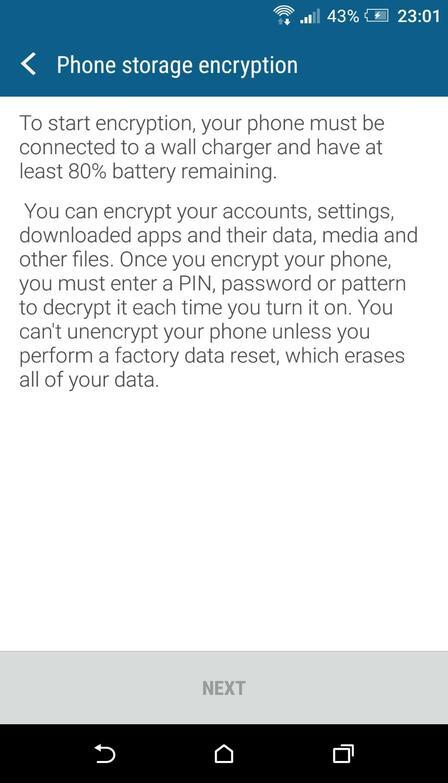 Android Phone Storage Encryption