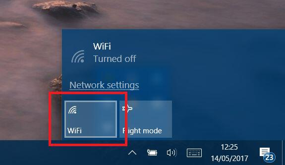 Windows 10 Turn Off WiFi