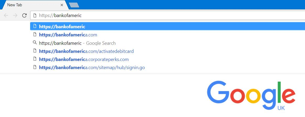 Type the URL into the browser to avoid phishing